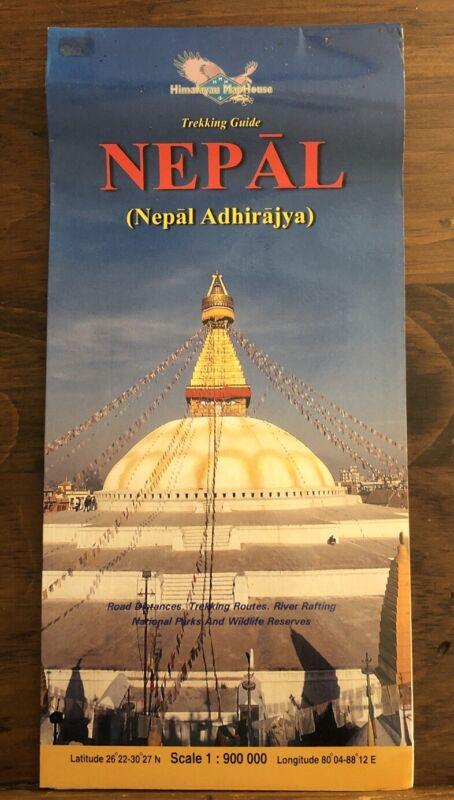 Trekking Guide Nepal Travel Map Himalayas Kathmandu