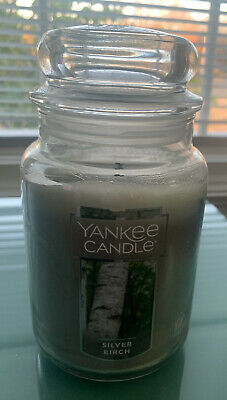 Yankee Candle Silver Birch 22oz Candle Burned Once