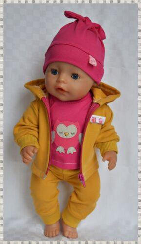 Puppenkleidung 4-tlg Set Hose/Jacke  für Baby Born 43 cm, Neu!