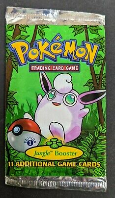 EMPTY NO CARDS 1999 Jungle 1st Edition Booster Pack Wigglytuff Artwork Pokemon