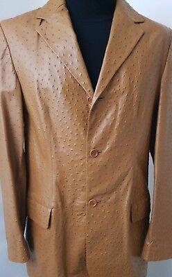jean gabriel uomo real leather jacket Men Size M Vintage Leather Used size 46 (Gabriel Jean)