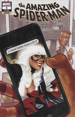 Marvel The Amazing Spider-Man #1 Black Cat Variant Cover A Adam Hughes Comic ASM (The Black Cat Marvel)