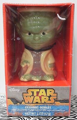 (YODA CERAMIC GOBLET Mug Cup Star Wars Gift Collectible Drinking Glass Disney NEW)