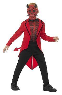 SMIFFY 45122 Teufel  Devil Boy Tag der Toten Karneval Halloween Jungen Kostüm (Boys Der Tag Der Toten Kostüme)