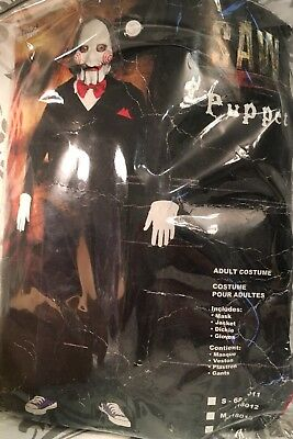 PMG Saw Jigsaw Billy Puppet Adult Halloween Costume Sz L No Gloves or Mask