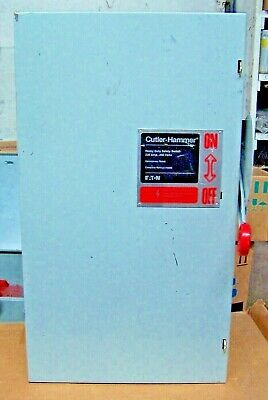 New Cutler Hammer 200 Amp Fusible Safety Switch Disconnect 240 Vac 3 Dh324fgk