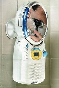 Memorex-MC1009-Digital-AM-FM-Radio-CD-Player-Shower-w-Anti-Fog-Mirror-Clock