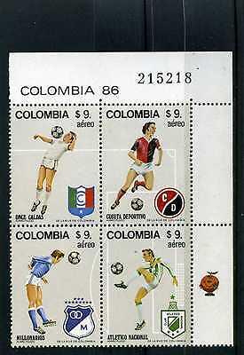 MILLONARIOS, NACIONAL, -FUTBOL OF > BKLT OF 4>  COLOMBIA  MNH 1982  RARE