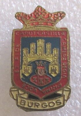 Vintage City of Burgos, Spain Tourist Travel Souvenir Collector Pin