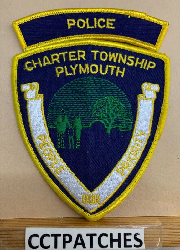 CHARTER TOWNSHIP PLYMOUTH, MICHIGAN POLICE WITH ROCKER SHOULDER PATCH MI