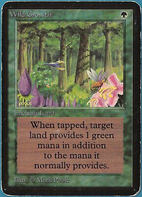 Wild Growth Alpha VERY HEAVILY PLD Green Common MAGIC CARD (ID# 240008) ABUGames