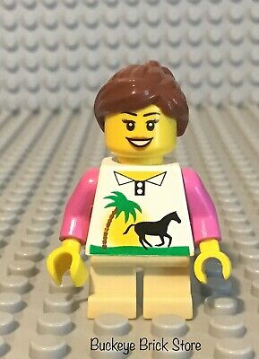 LEGO Minifigure Torso 319 SAND GREEN Female Robe w Silver Zipper Trim Trees