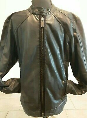 DIESEL MEN'S BIKER LEATHER JACKET SZ SMALL