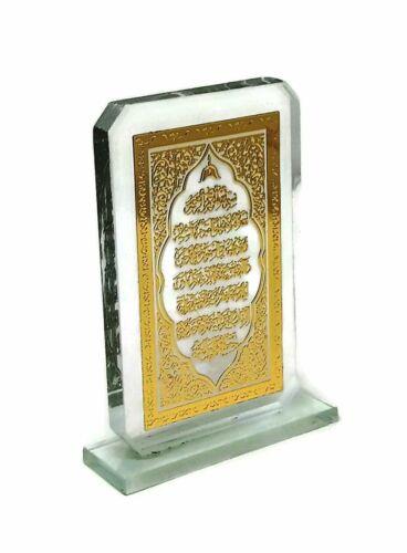 Car Front Console Ornament A186 Mini Glass Plaque Ayat Kursi Al Quran Gift
