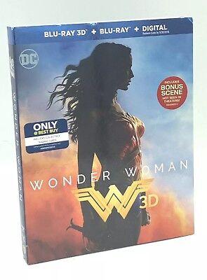Wonder Woman 3D (Blu-ray 3D+Blu-ray+Digital, 2017; Only @ Best Buy) w/ (Best Military Sci Fi)