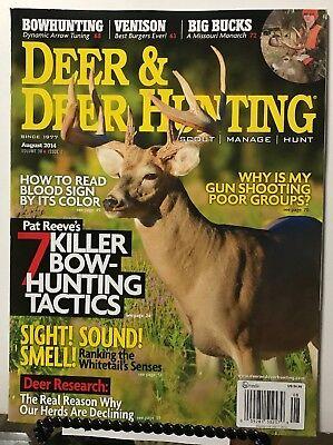 Deer & Deer Hunting Killer Bowhunting Tactics Gun August 2014 FREE SHIPPING JB