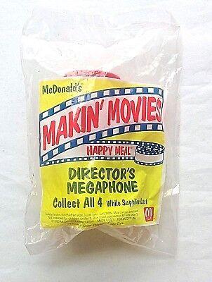 NEW Vintage McDonald MEGAPHONE/DIRECTORS 1994 Makin' Movies Happy Meal Toy Promo (Directors Megaphone)