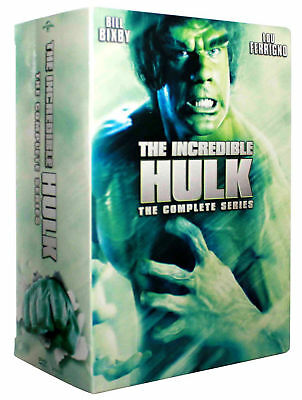 The Incredible Hulk: Seasons 1-5 The Complete Series DVD, 20 Disc Box Set