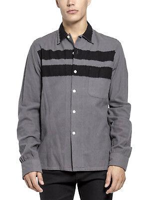 TRIPP GOTHIC ROCKER BICKER RETRO PUNK GOTH ROCK GREY 80S FLANNEL SHIRT TFL102 Casual Button-Down Shirts