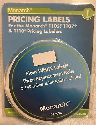 Avery Pricing Labels Fits Monarch 1105 1107 1110 White Labels Price Stickers