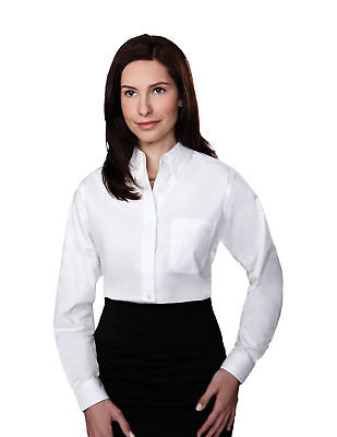Tri Mountain Women Echo Blended Teflon Stain Resistant Finish Oxford Dress Shirt