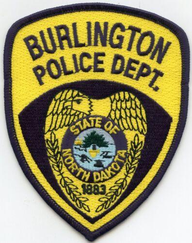 BURLINGTON NORTH DAKOTA ND POLICE PATCH