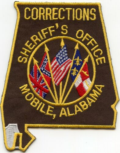 MOBILE COUNTY ALABAMA AL State Shape Shaped CORRECTIONS DOC SHERIFF POLICE PATCH