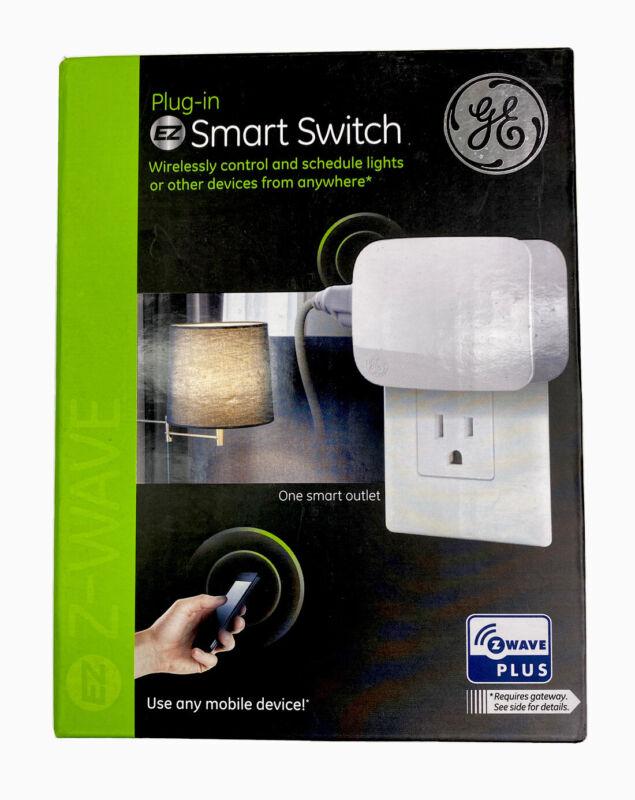 GE 28169 Single Plug Z-Wave Plus Plug-In EZ Smart Switch New