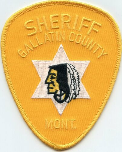GALLATIN COUNTY MONTANA MT Indian SHERIFF POLICE PATCH