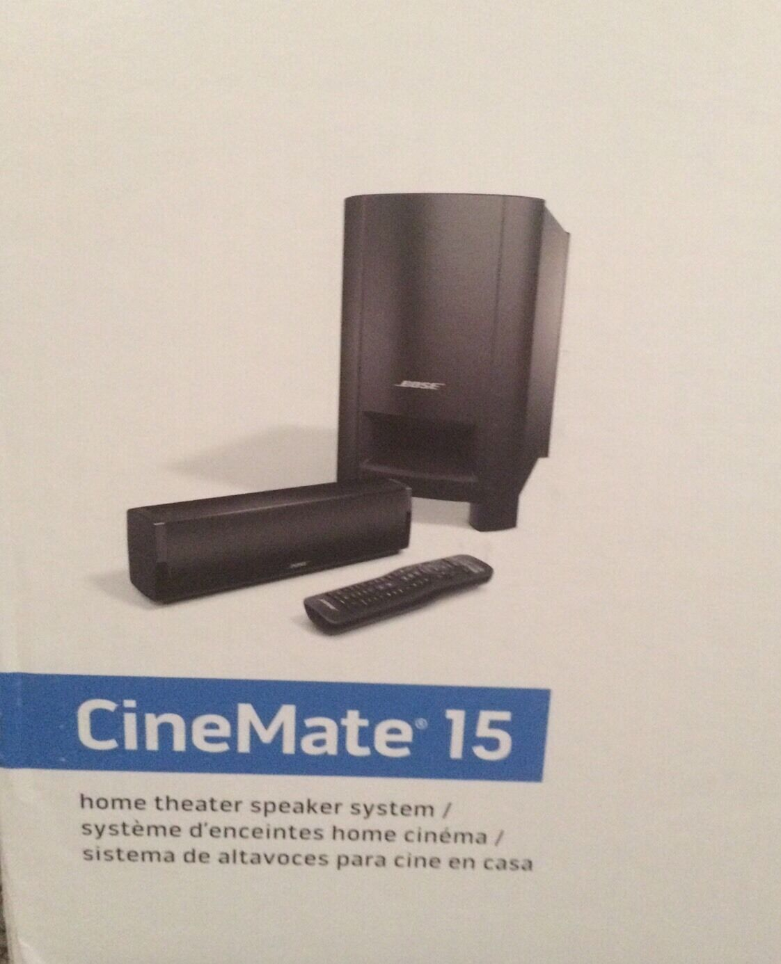 bose cinemate 15 home cinema soundbar speaker system new ebay. Black Bedroom Furniture Sets. Home Design Ideas