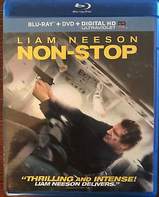 NON-STOP (Blu-ray & DVD) MINT! NO Digital Liam Neeson Julianne