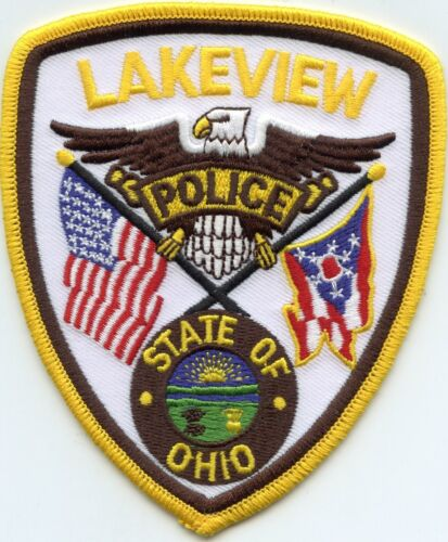 LAKEVIEW OHIO OH State Flag POLICE PATCH