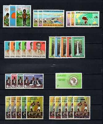 Belgisch Congo Belge - Rep. du Zaïre Collection MNH sets (4) c22.45Eu.