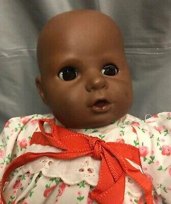 """10"""" Fishel African American Black Baby Doll Brown Sleep Eyes (Black Baby Doll)"""