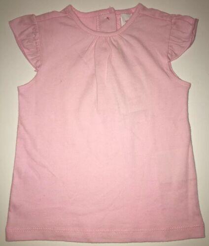 NEU T-Shirt Uni Rosa RosePink BabyMädchen 80 86 92 Rüschen