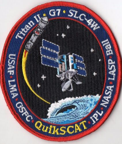 Original USAF VAFB SLC-4W Titan II G-2 Quikscat Satellite Mission Launch Patch