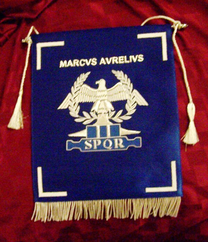 Roman Army Emperor Marcus Aurelius War Legion Banner Flag SPQR Rome Pax Eagle X