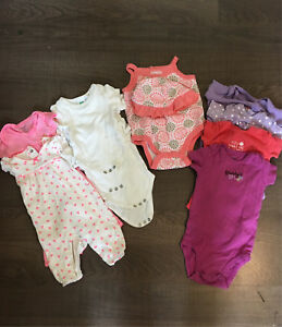 Baby girl summer clothing 0-6 months