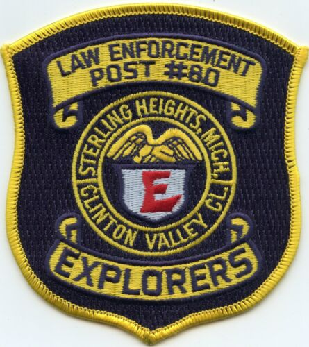 STERLING HEIGHTS MICHIGAN MI EXPLORER POLICE PATCH