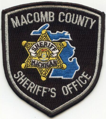 MACOMB COUNTY MICHIGAN MI Black Background SHERIFF POLICE PATCH