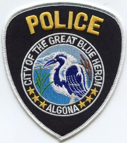 ALGONA WASHINGTON WA City of The Great Blue Heron POLICE PATCH