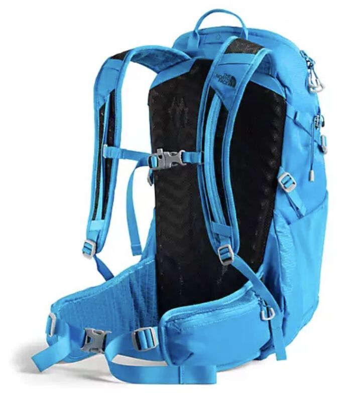 the north face backpack the north face litus 22 l hiking bqckpack new blue l/xl