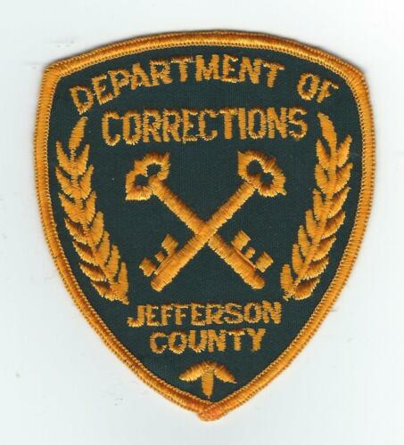 VINTAGE JEFFERSON COUNTY, KY DEPT. OF CORRECTIONS (CHEESE CLOTH BACK) patch