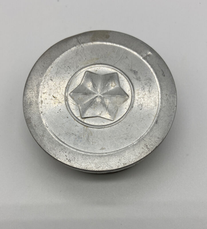 VTG Collapsible Drink Cup Tin Metal Folding Camping w/ Lid Scout Folding 1967
