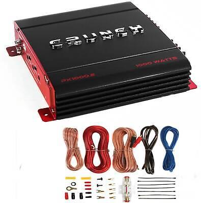 Crunch PX-1000.4 4 Channel 1000 Watt Amp Car Stereo Amplifier + Wiring Kit