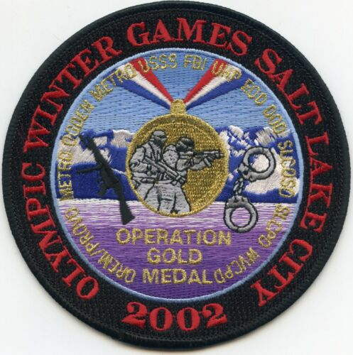 SALT LAKE CITY UTAH 2002 WINTER OLYMPICS colorful POLICE PATCH