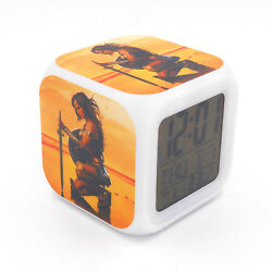 New Wonder Woman Led Alarm Clock Creative Desk Digital Clock for Adults Kids Toy