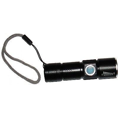 Kyasi Mini USB Rechargeable LED Flashlight - Black
