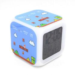 Led Alarm Clock Super Mario Game Creative Digital Desk Clock for Kids Toy Gift