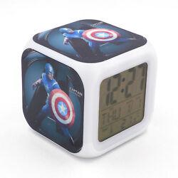 Avengers Captain America Alarm Clock Creative Desk Digital Clock for Adults Kids